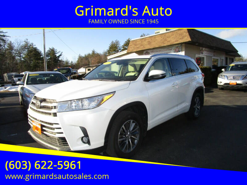 2017 Toyota Highlander for sale at Grimard's Auto in Hooksett, NH