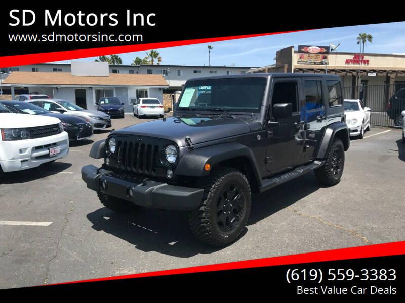2018 Jeep Wrangler Unlimited for sale at SD Motors Inc in La Mesa CA