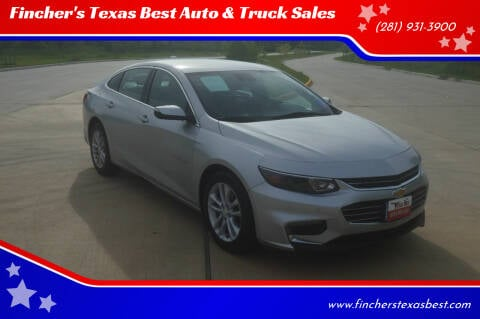 2017 Chevrolet Malibu for sale at Fincher's Texas Best Auto & Truck Sales in Tomball TX