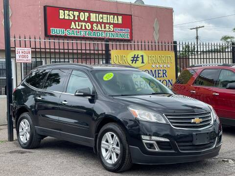 2013 Chevrolet Traverse for sale at Best of Michigan Auto Sales in Detroit MI