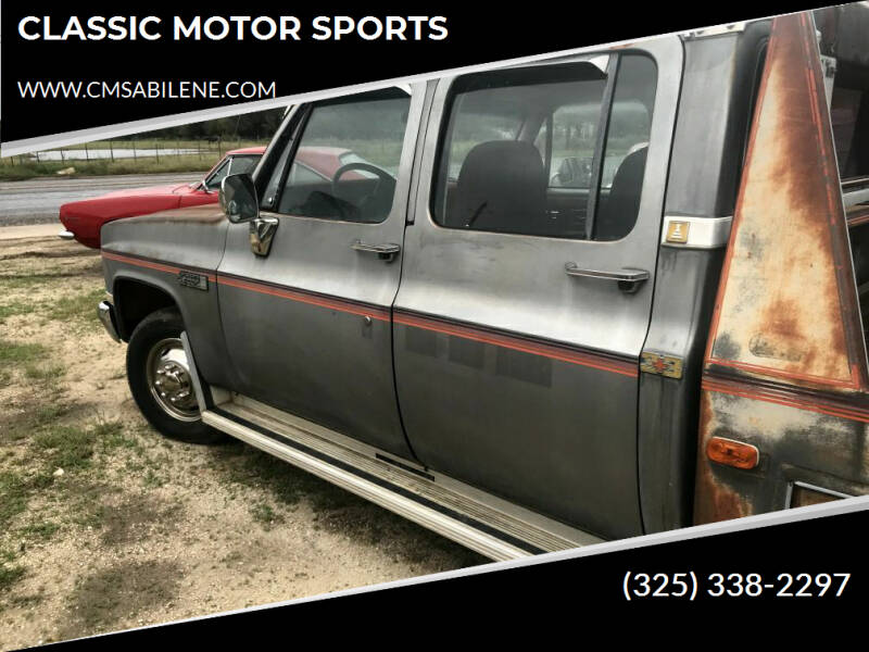 1986 GMC SIERRA CLASSIC  for sale at CLASSIC MOTOR SPORTS in Winters TX