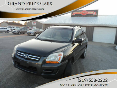 2007 Kia Sportage for sale at Grand Prize Cars in Cedar Lake IN