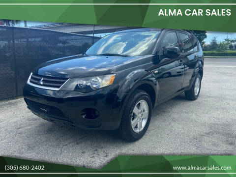 2008 Mitsubishi Outlander for sale at Alma Car Sales in Miami FL