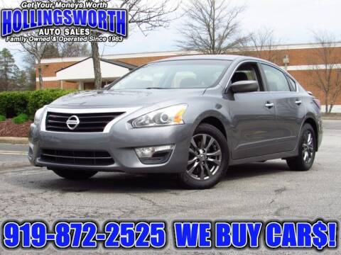 2015 Nissan Altima for sale at Hollingsworth Auto Sales in Raleigh NC