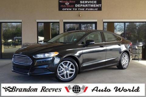 2015 Ford Fusion for sale at Brandon Reeves Auto World in Monroe NC