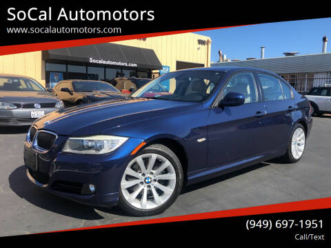 2011 BMW 3 Series for sale at SoCal Automotors in Costa Mesa CA