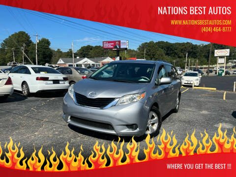 2013 Toyota Sienna for sale at Nations Best Autos in Decatur GA