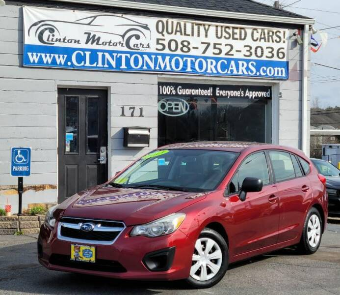 2013 Subaru Impreza for sale at Clinton MotorCars in Shrewsbury MA