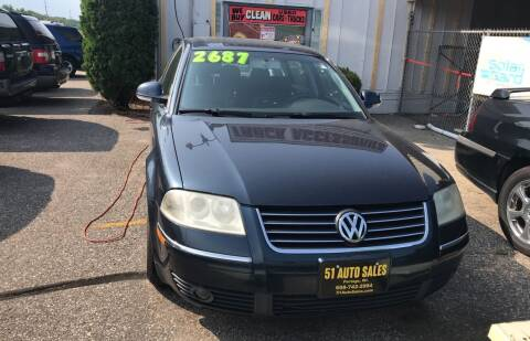 2004 Volkswagen Passat for sale at 51 Auto Sales Ltd in Portage WI