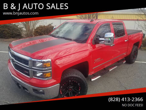 2014 Chevrolet Silverado 1500 for sale at B & J AUTO SALES in Morganton NC