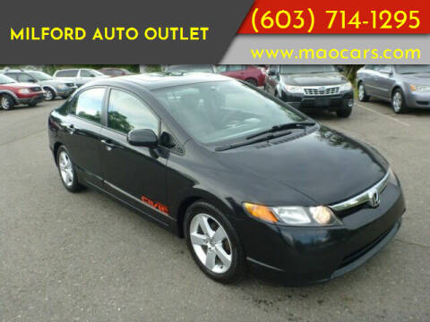 2007 Honda Civic for sale at Milford Auto Outlet in Milford NH