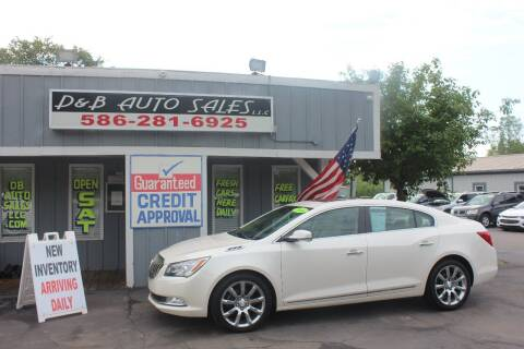 2014 Buick LaCrosse for sale at D & B Auto Sales LLC in Washington Township MI