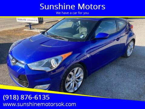 2013 Hyundai Veloster for sale at Sunshine Motors in Bartlesville OK