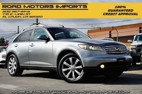 2004 Infiniti FX35 for sale at Road Motors Imports in El Cajon CA