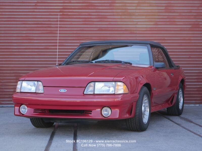 1987 Ford Mustang for sale at Sierra Classics & Imports in Reno NV