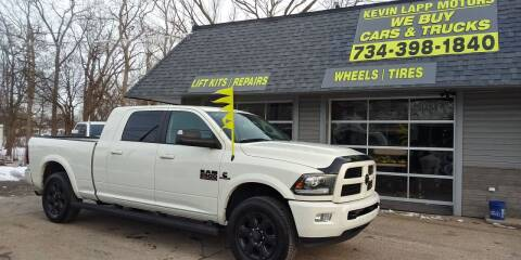 2016 RAM Ram Pickup 2500 for sale at Kevin Lapp Motors in Plymouth MI