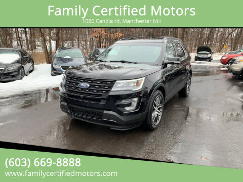 2016 Ford Explorer for sale at Family Certified Motors in Manchester NH