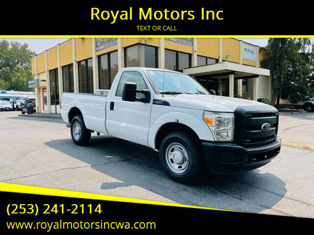 2013 Ford F-250 Super Duty for sale at Royal Motors Inc in Kent WA