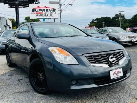2009 Nissan Altima for sale at Supreme Auto Sales in Chesapeake VA