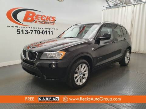 2013 BMW X3 for sale at Becks Auto Group in Mason OH
