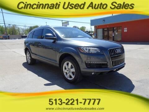 2013 Audi Q7 for sale at Cincinnati Used Auto Sales in Cincinnati OH