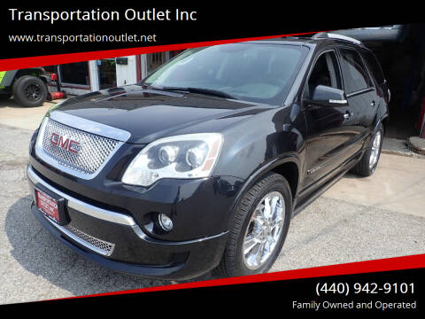 2012 GMC Acadia for sale at Transportation Outlet Inc in Eastlake OH