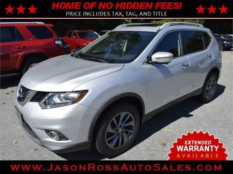 2016 Nissan Rogue for sale at Jason Ross Auto Sales in Burlington NC