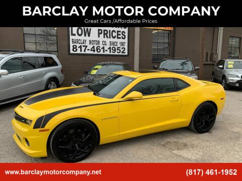 2011 Chevrolet Camaro for sale at BARCLAY MOTOR COMPANY in Arlington TX