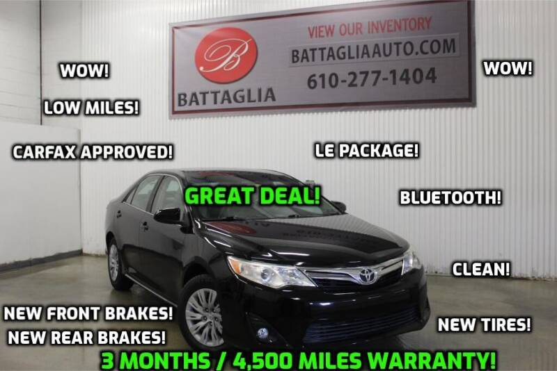 2012 Toyota Camry for sale at Battaglia Auto Sales in Plymouth Meeting PA