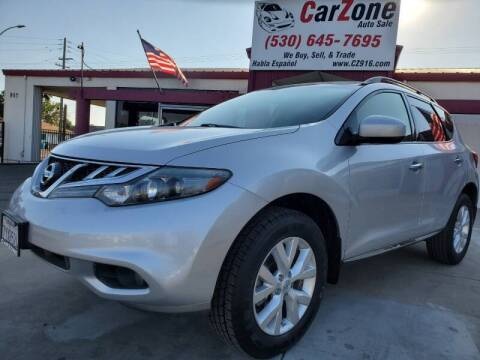 2013 Nissan Murano for sale at CarZone in Marysville CA