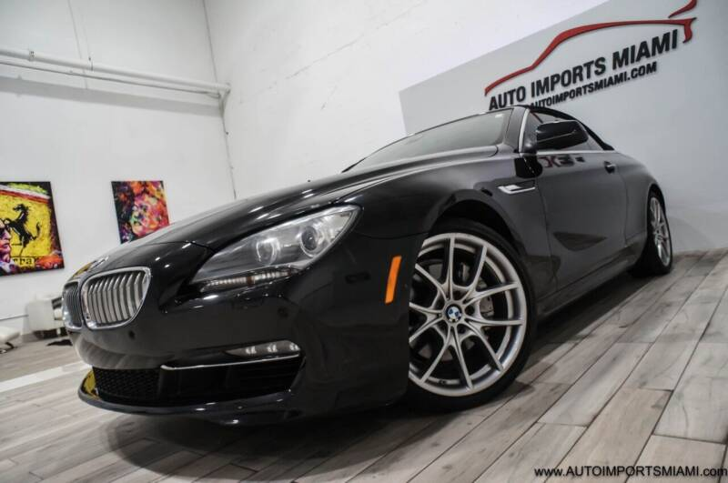 2013 BMW 6 Series for sale at AUTO IMPORTS MIAMI in Fort Lauderdale FL