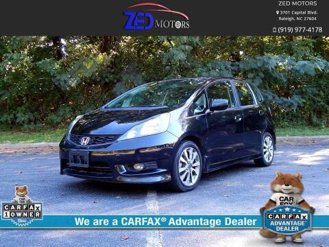 2012 Honda Fit for sale at Zed Motors in Raleigh NC