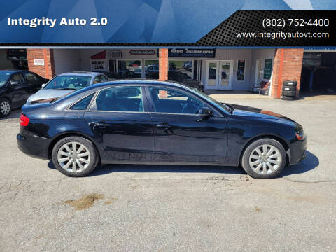 2013 Audi A4 for sale at Integrity Auto 2.0 in Saint Albans VT