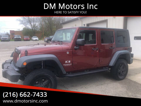 2008 Jeep Wrangler Unlimited for sale at DM Motors Inc in Maple Heights OH