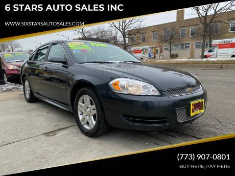 2012 Chevrolet Impala for sale at 6 STARS AUTO SALES INC in Chicago IL