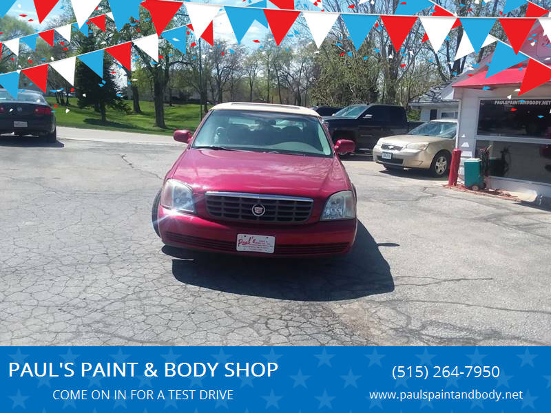 2004 Cadillac DeVille for sale at PAUL'S PAINT & BODY SHOP in Des Moines IA