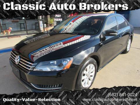 2014 Volkswagen Passat for sale at Classic Auto Brokers in Haltom City TX