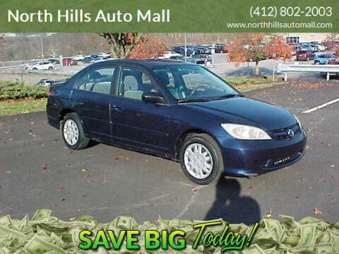 2004 Honda Civic for sale at North Hills Auto Mall in Pittsburgh PA