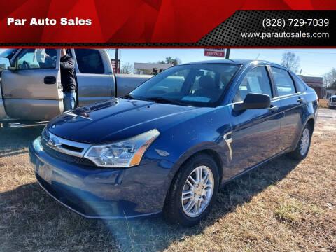 2008 Ford Focus for sale at Par Auto Sales in Lenoir NC