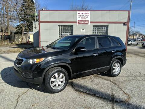 2011 Kia Sorento for sale at Richland Motors in Cleveland OH