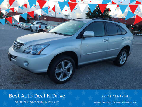 2008 Lexus RX 400h for sale at Best Auto Deal N Drive in Hollywood FL
