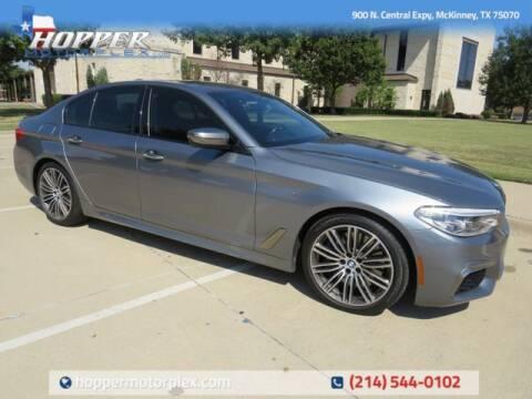 2018 BMW 5 Series for sale at HOPPER MOTORPLEX in Mckinney TX