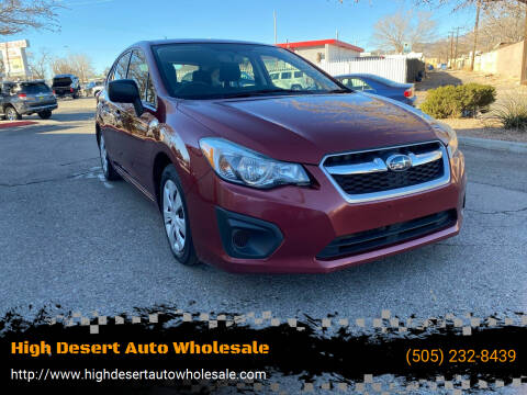 2014 Subaru Impreza for sale at High Desert Auto Wholesale in Albuquerque NM