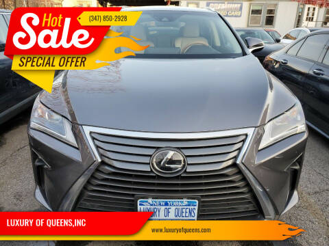 2017 Lexus RX 350 for sale at LUXURY OF QUEENS,INC in Long Island City NY