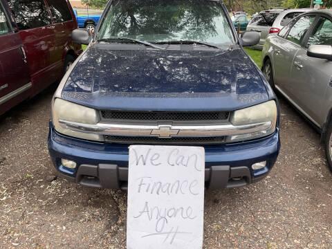 2003 Chevrolet TrailBlazer for sale at Continental Auto Sales in White Bear Lake MN
