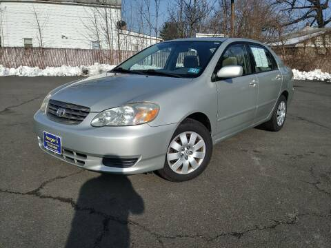 2003 Toyota Corolla for sale at Nerger's Auto Express in Bound Brook NJ