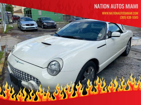 2002 Ford Thunderbird for sale at Nation Autos Miami in Hialeah FL