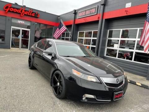 2012 Acura TL for sale at Goodfella's  Motor Company in Tacoma WA