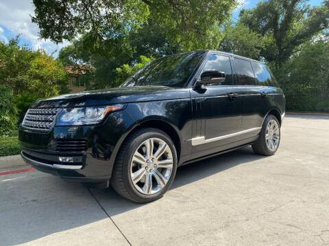 2016 Land Rover Range Rover for sale at Motorcars Group Management - Bud Johnson Motor Co in San Antonio TX