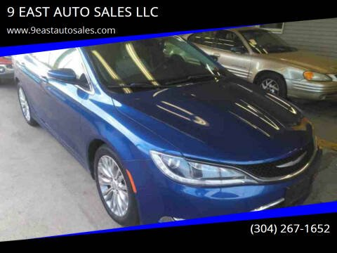 2015 Chrysler 200 for sale at 9 EAST AUTO SALES LLC in Martinsburg WV